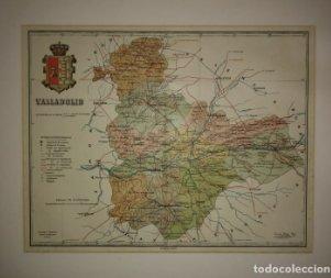 Valladolid, mapa antiguo de la provincia