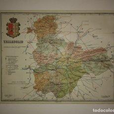 Mapas contemporáneos: VALLADOLID PROVINCIA - MAPA ANTIGUO 1910 CON PASPARTÚ BISELADO 37,5 CM X 30,5 CM. Lote 116864143