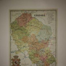 Mapas contemporáneos: CÓRDOBA PROVINCIA - MAPA ANTIGUO 1910 CON PASPARTÚ BISELADO 43 CM X 34,7 CM. Lote 116864399