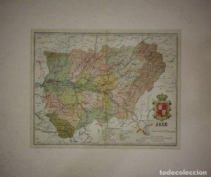 Jaén, mapa antiguo de la provincia