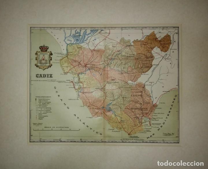 MAPA ANTIGUO DE CÁDIZ. 1910 (Coleccionismo - Mapas - Mapas actuales (desde siglo XIX))