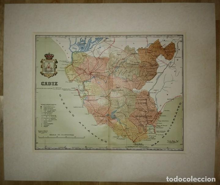 Mapas contemporáneos: Mapa antiguo de Cádiz. 1910 - Foto 2 - 116864763