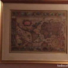 Mapas contemporáneos: MAPA MUNDI ENMARCADO. Lote 153165706