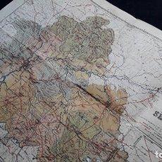 Mapas contemporáneos: MAPA EN TELA DE LA PROVINCIA DE SEVILLA. (BENITO CHÍAS, 1930). Lote 154268350