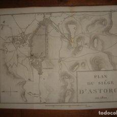 Mapas contemporáneos: PLANO ASEDIO ASTORGA, LEÓN, GUERRA INDEPENDENCIA , ORIGINAL, PARIS, TARDIEU 1820, ESPLÉNDIDO. Lote 154277258