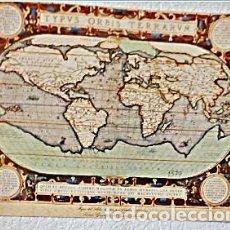 Mapas contemporáneos: MAPAMUNDI TYPUS ORBIS TERRARUM ORTELIUS ABRAHAM. Lote 154368910