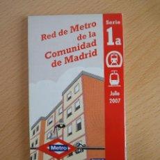 Mapas contemporáneos: MAPA O PLANO COMPLETO DEL METRO DE MADRID. CON BASE CARTOGRÁFICA (JULIO 2007). Lote 154530362