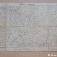 Mapas contemporáneos: ANTIGUO MAPA - GÜÉJAR SIERRA - GRANADA - MULHACEN Y VELETA - SIN DATOS - 46 X 66 CM 1ª EDICIÓN 1940. Lote 154823606