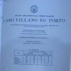 Mapas contemporáneos: MAPA GRAN TAMAÑO - GALICIA - CARTA NAUTICA MARÍTIMO Y COSTA - CABO VILLANO A OPORTO - 90 X 136 CM -. Lote 154858742