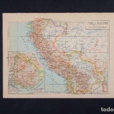 Mapas contemporáneos: PERU, BOLOVIA, MAPA SUDAMÉRICA, ATLAS, MAPA VINTAGE, MAPA, MAPA ATLAS, LAMINAS VINTAGE, MAPAS. Lote 154966634