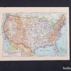 Mapas contemporáneos: ESTADOS UNIDOS, MAPA DE AMÉRICA, MAPA VINTAGE DE ESTADOS UNIDOS, ATLAS, MAPA VINTAGE, MAPA, MAPA ATL. Lote 154967670