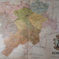 Mapas contemporáneos: ALBACETE 1905. Lote 155031198