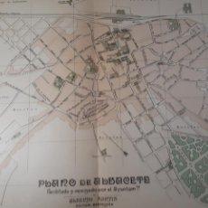 Mapas contemporáneos: ALBACETE 1905. Lote 155031889