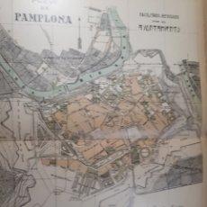 Mapas contemporáneos: PAMPLONA 1905. Lote 155032564