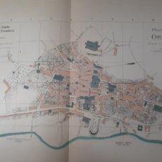 Mapas contemporáneos: ORENSE 1905. Lote 155033324