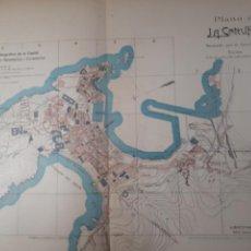 Mapas contemporáneos: LA CORUÑA 1905. Lote 155033452