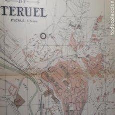 Mapas contemporáneos: TERUEL 1905. Lote 155033557