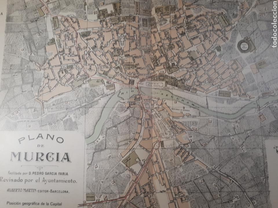 MURCIA 1905 (Coleccionismo - Mapas - Mapas actuales (desde siglo XIX))