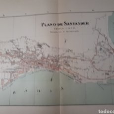 Mapas contemporáneos: SANTANDER 1905. Lote 155034692