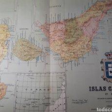Mapas contemporáneos: ISLAS CANARIAS 1905. Lote 155035084