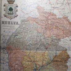 Mapas contemporáneos: HUELVA 1905. Lote 155412984