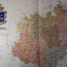 Mapas contemporáneos: TERUEL 1905. Lote 155412288