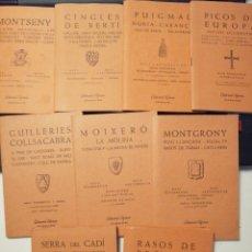 Mapas contemporáneos: GUIA CARTOGRÀFICAS ED. ALPINA 9 UNIDADES. Lote 155955573