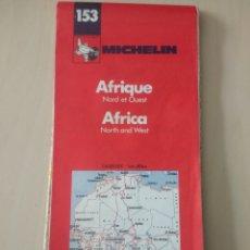 Mappe contemporanee: MICHELIN 153. ÁFRICA NORTH AND WEST. 1/4 000 000 - 1CM:40 KM. PNEU MICHELIN. AÑO 1983.. Lote 156525428