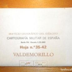 Mapas contemporáneos: VALDEMORILLO - 35-42 5V MAPA MILITAR DE ESPAÑA - SERVICIO GEOGRÁFICO DEL EJÉRCITO - 46 X 69,5 CM. Lote 156782370