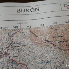 Mapas contemporáneos: MAPA CARTOGRÁFICO DE BURÓN, E: 1/50.000. (SERVICIO GEOGRÁFICO DEL EJÉRCITO.) . Lote 157767898