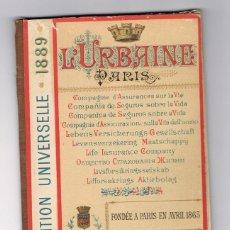 Mapas contemporáneos: PLANO DE LA EXPOSICIÓN UNIVERSAL DE PARÍS 1889. Lote 157950638
