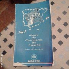 Mapas contemporáneos: MAPA DE CARRETERAS DE ESPAÑA Y GUIA DE SERVICIOS DE MAPFRE 1995. Lote 157988162