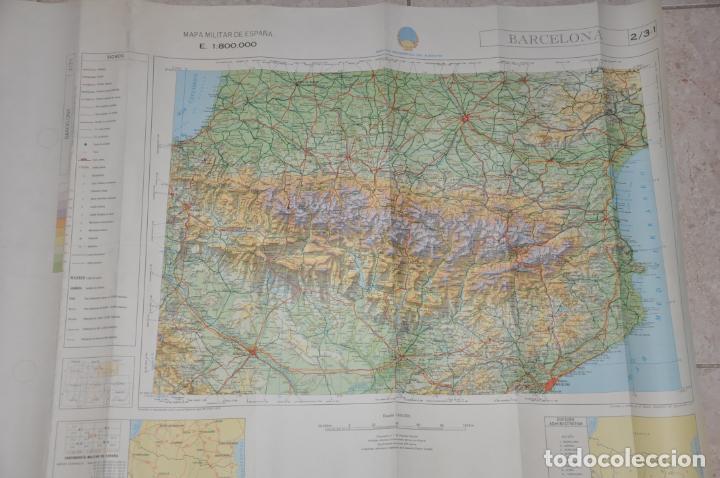 MAPA MILITAR BARCELONA (Coleccionismo - Mapas - Mapas actuales (desde siglo XIX))
