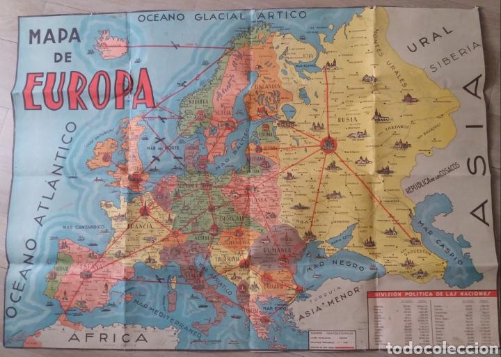 Precioso Mapa Politico De Europa Escolar De P Sold Through