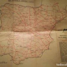 Mapas contemporáneos: MAPA ESQUEMÁTICO DE CARRETERAS. LARIO . Lote 159288838