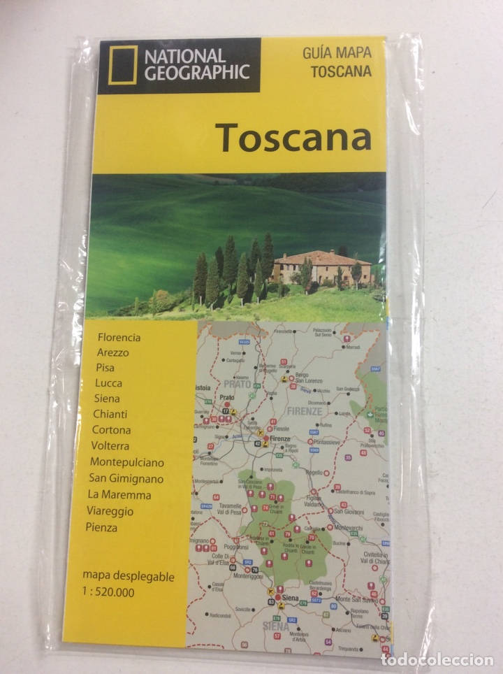 Guia Mapa Toscana National Geographic Sold Through Direct Sale