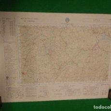 Mapas contemporáneos: MAPA MILITAR DE ESPAÑA ESCALA 1: 50.000 - TEBA - MEDIDAS 80X50 CM.. Lote 160242266