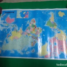 Mapas contemporáneos: CARTEL MAPAMUNDI MEDIDAS 100X70 CM.. Lote 160244298