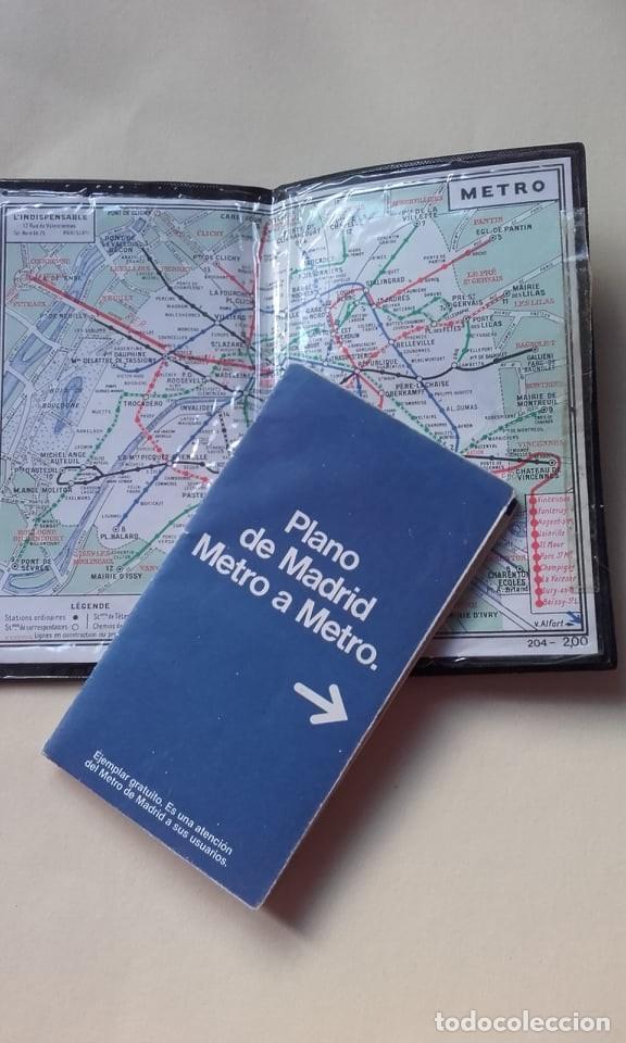 LOTE DE MAPA DE METRO DE MADRID Y DE PARIS 1984 (Coleccionismo - Mapas - Mapas actuales (desde siglo XIX))