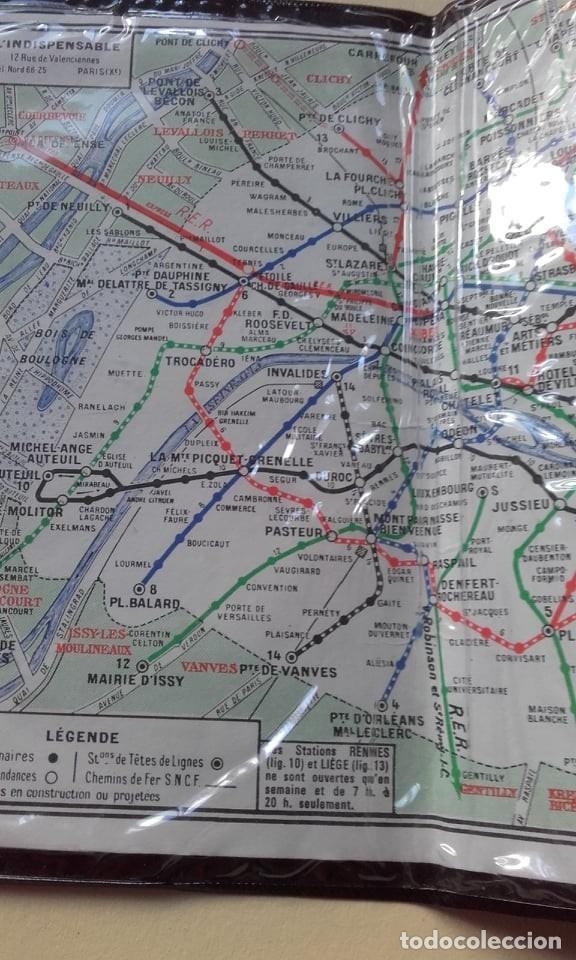 Mapas contemporáneos: LOTE DE MAPA DE METRO DE MADRID Y DE PARIS 1984 - Foto 2 - 160615590