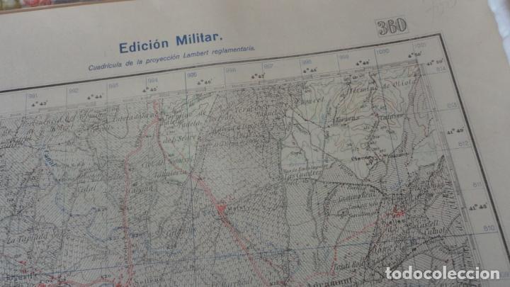 Mapas contemporáneos: ANTIGUO MAPA BELLVIS LLEIDA.EDICION MILITAR 1949 - Foto 3 - 160621910