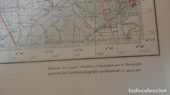 Mapas contemporáneos: ANTIGUO MAPA BELLVIS LLEIDA.EDICION MILITAR 1949 - Foto 4 - 160621910