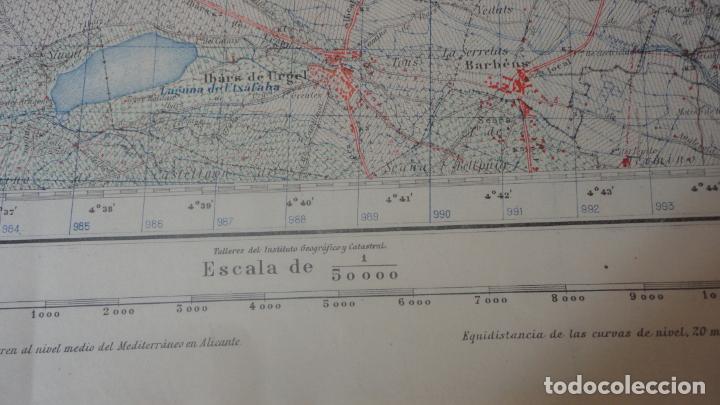 Mapas contemporáneos: ANTIGUO MAPA BELLVIS LLEIDA.EDICION MILITAR 1949 - Foto 5 - 160621910