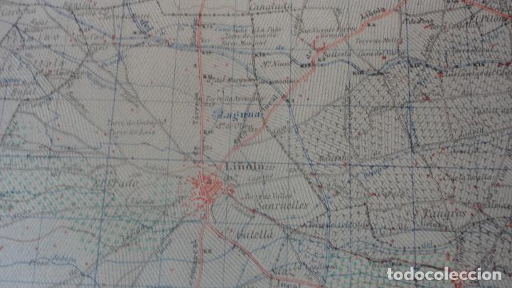 Mapas contemporáneos: ANTIGUO MAPA BELLVIS LLEIDA.EDICION MILITAR 1949 - Foto 6 - 160621910