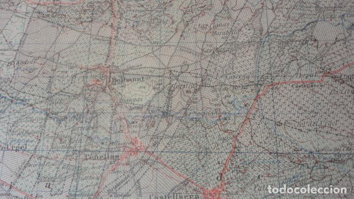 Mapas contemporáneos: ANTIGUO MAPA BELLVIS LLEIDA.EDICION MILITAR 1949 - Foto 7 - 160621910