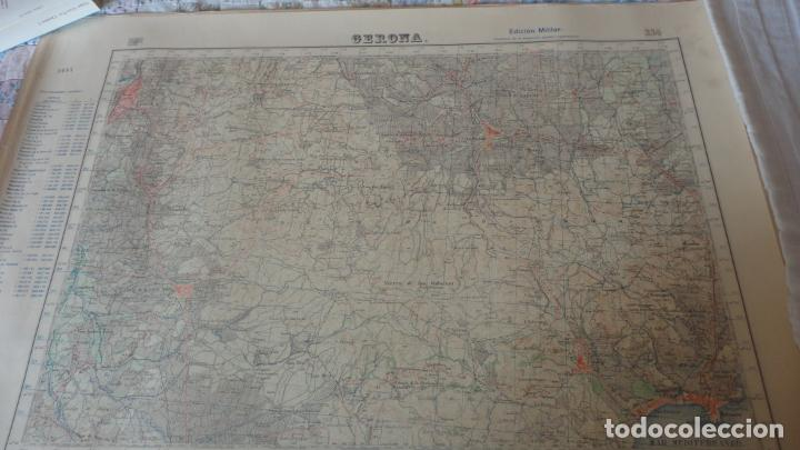 ANTIGUO MAPA GERONA.EDICION MILITAR 1950 (Coleccionismo - Mapas - Mapas actuales (desde siglo XIX))