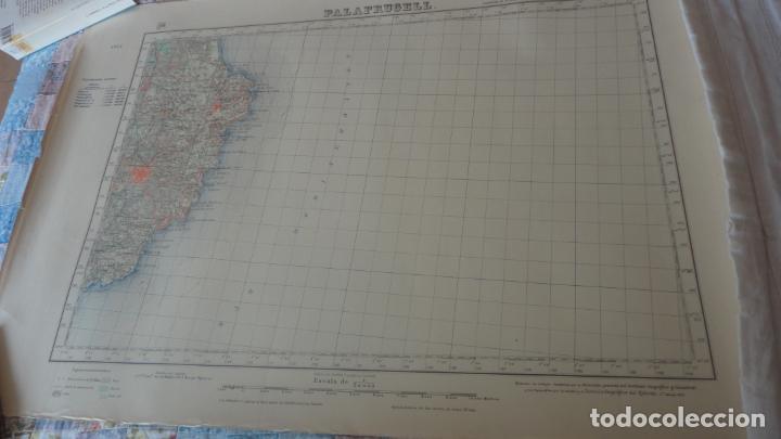 ANTIGUO MAPA.PALAFRUGELL.GERONA.EDICION MILITAR 1950 (Coleccionismo - Mapas - Mapas actuales (desde siglo XIX))