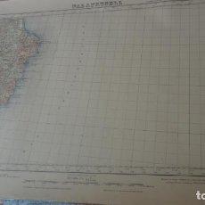Mapas contemporáneos: ANTIGUO MAPA.PALAFRUGELL.GERONA.EDICION MILITAR 1950. Lote 160622970