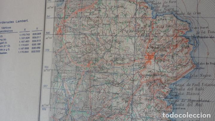 Mapas contemporáneos: ANTIGUO MAPA.PALAFRUGELL.GERONA.EDICION MILITAR 1950 - Foto 5 - 160622970