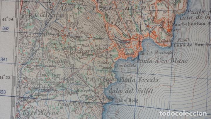 Mapas contemporáneos: ANTIGUO MAPA.PALAFRUGELL.GERONA.EDICION MILITAR 1950 - Foto 6 - 160622970